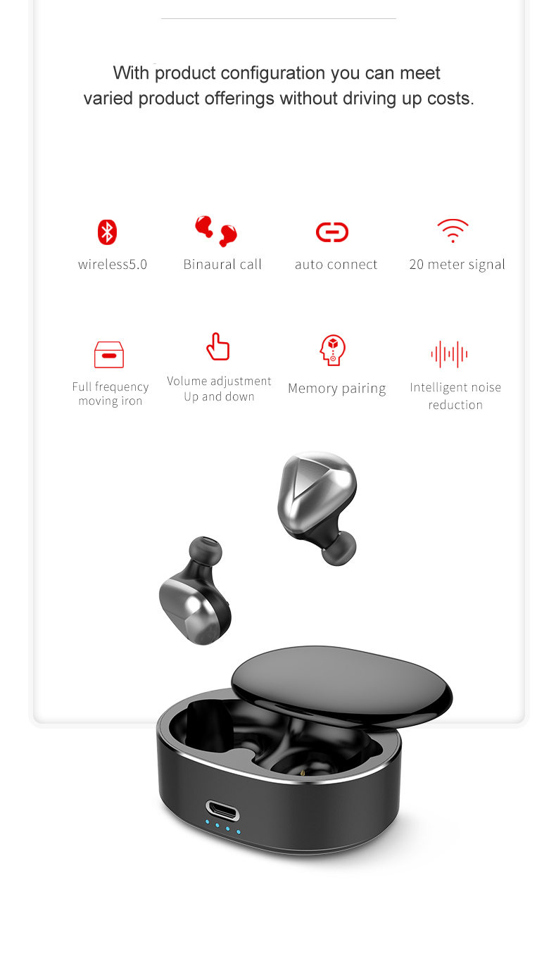 Leabuds Bluetooth TWS earbuds - Configuration in thousands of dollars, constraint across quality