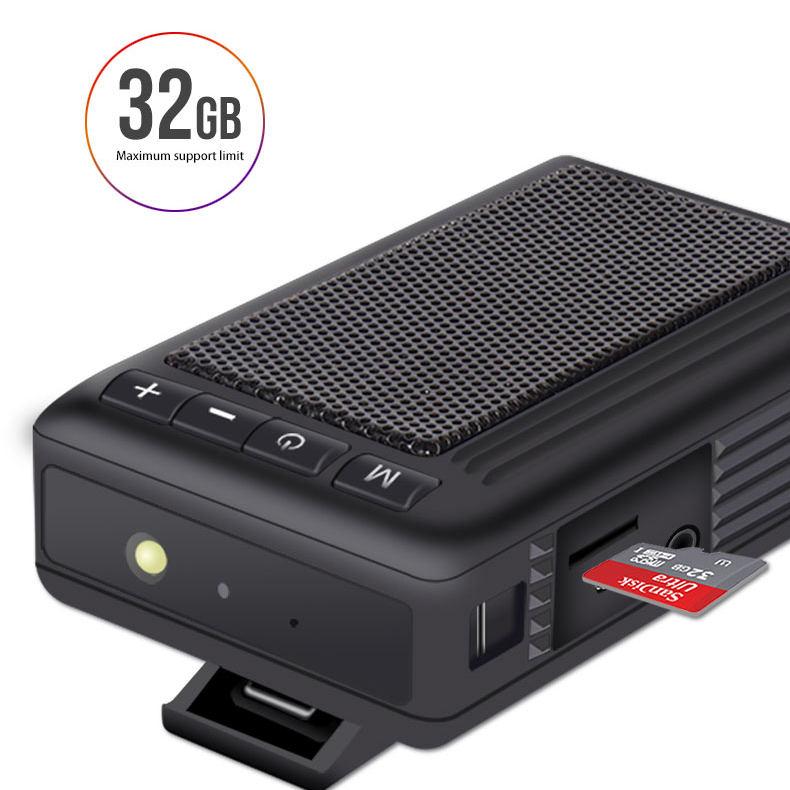 A Retro Design Mini Portable Bluetooth Speaker with FM radio, MP3 Player and flashlight