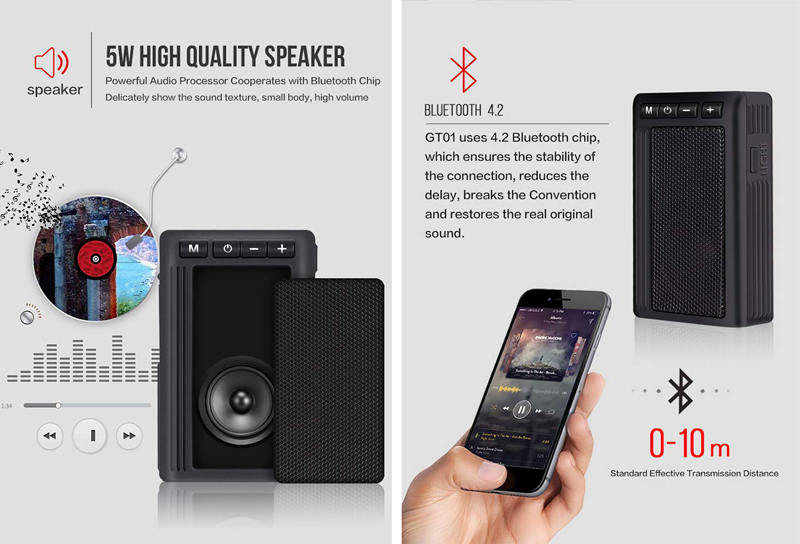 Leaglee GT01 Bluetooth speakers